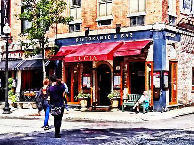 Awning Photograph - Boston Ma - Hanover Street North End by Susan Savad