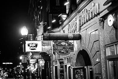 Northend Photograph - Boston Ma North End Cigar Shop Black And White by Toby McGuire