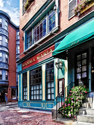 City Photograph - Boston Ma - North End Restaurant by Susan Savad