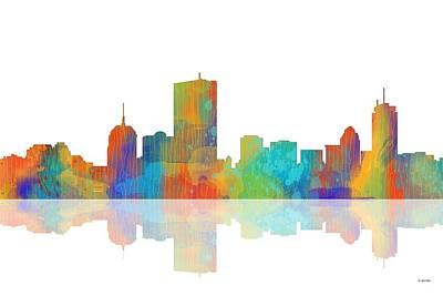 Boston Ma. Skyline Art Print
