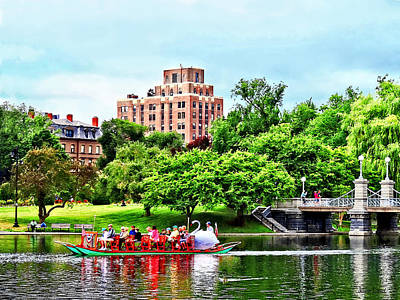 Photograph - Boston Ma - Boston Public Garden by Susan Savad