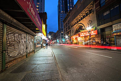Photograph - Boston Ma Washington Street China Town Empire Garden Car Trail by Toby McGuire