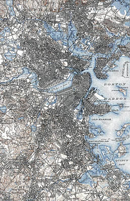 Photograph - Boston Map, 1903 by Granger