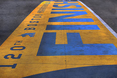 Boston Marathon Finish Line Art Print by Joann Vitali