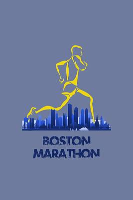 Boston Marathon5 Print by Joe Hamilton
