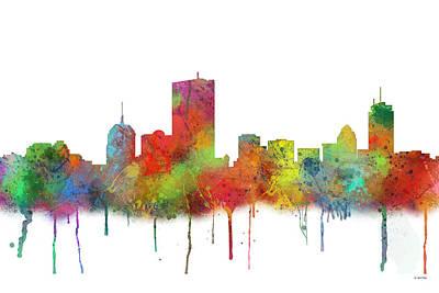 Boston Ma Digital Art - Boston Mas .skyline by Marlene Watson