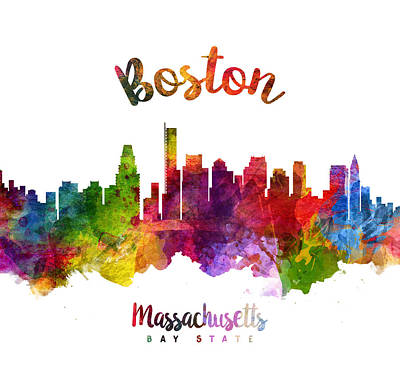Boston Painting - Boston Massachusetts 23 by Aged Pixel
