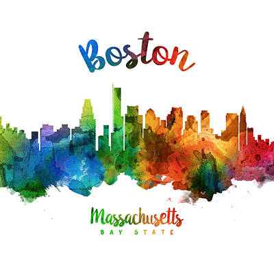 Boston Painting - Boston Massachusetts 25 by Aged Pixel