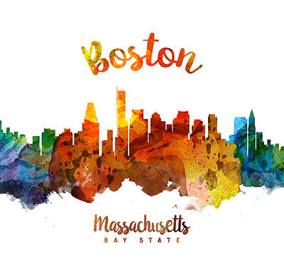 Boston Painting - Boston Massachusetts 26 by Aged Pixel