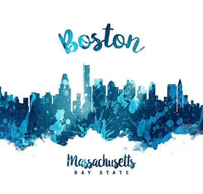 Boston Painting - Boston Massachusetts 27 by Aged Pixel