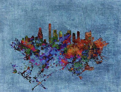 Harvard Mixed Media - Boston, Massachusetts Cityscape 1b by Brian Reaves