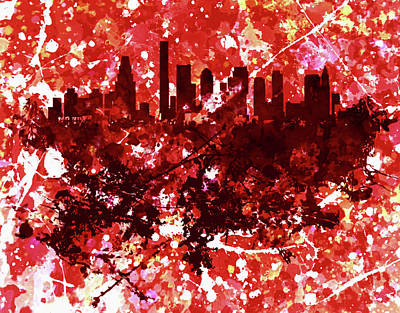 Harvard Mixed Media - Boston, Massachusetts Cityscape 1e by Brian Reaves