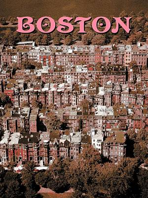 Digital Art - Boston Massachusetts Poster by Art America Gallery Peter Potter