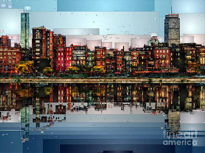 Digital Art - Boston, Massachusetts by Rafael Salazar
