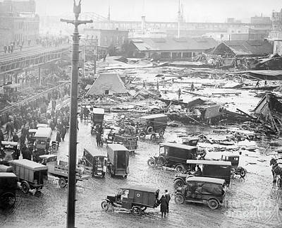 Photograph - Boston Molasses Flood. - To License For Professional Use Visit Granger.com by Granger