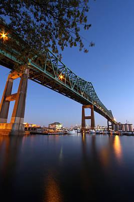 Photograph - Boston Mystic River Bridge by Juergen Roth