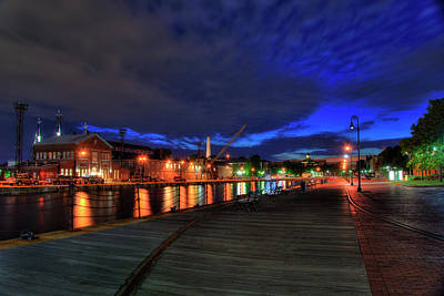 Photograph - Boston Navy Yard - Constitution Marina by Joann Vitali