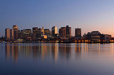 Boston Night Skyline Photograph - Boston Night by Juergen Roth