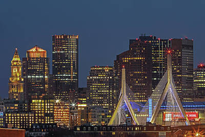 Photograph - Boston Nightlight by Juergen Roth