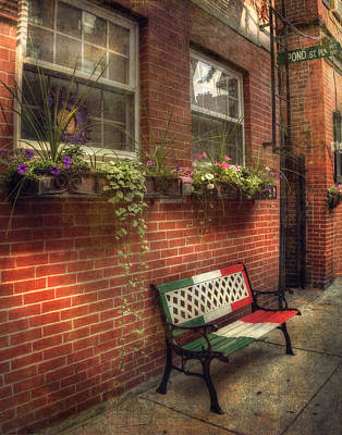 Photograph - Boston North End Charm 11x14 by Joann Vitali