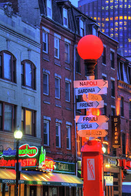 Photograph - Boston North End - Hanover Street by Joann Vitali