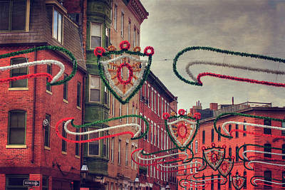 Photograph - Boston North End - Italian Festival  by Joann Vitali