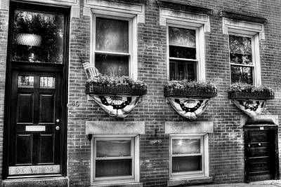 Photograph - Boston North End Patriotic Sidewalk by Joann Vitali