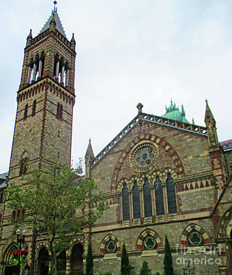 Photograph - Boston Old South Church by Randall Weidner