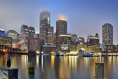Riverwalk Photograph - Boston On A Foggy Evening by Brendan Reals