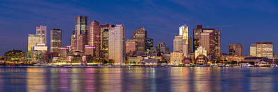 Boston Skyline Panoramic Photograph - Boston Pano  by Emmanuel Panagiotakis