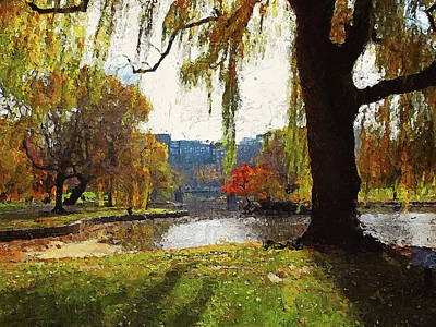 Painting - Boston, Panorama - 05 by Andrea Mazzocchetti