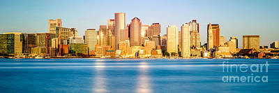 Boston Skyline Panoramic Photograph - Boston Panoramic Skyline Picture by Paul Velgos