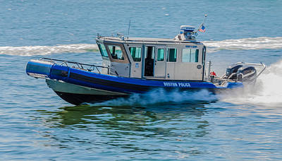 Photograph - Boston Police Harbor Unit by Brian MacLean