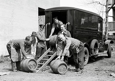 Paddy Wagon Photograph - Boston Police Paddy Wagon Prohibition Raid C. 1929 by Daniel Hagerman