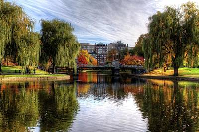Photograph - Boston Public Garden Autumn Trees Boston Ma by Toby McGuire