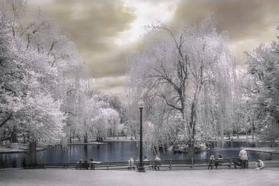 Photograph - Boston Public Garden In Infrared by Joann Vitali