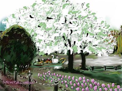 Painting - Boston Public Garden by Jean Pacheco Ravinski