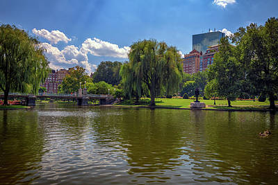 Photograph - Boston Public Garden by Rick Berk