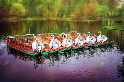 Photograph - Boston Public Garden Swan Boats  by Carol Japp