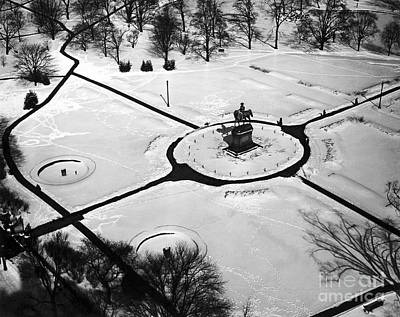 Boston Public Garden Photograph - Boston Public Gardens In Winter by American School