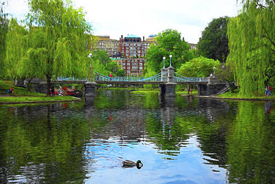 Photograph - Boston Public Gardens Park - Y1 by Carlos Diaz