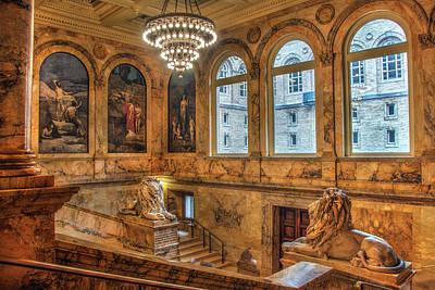 Photograph - Boston Public Library Architecture by Joann Vitali