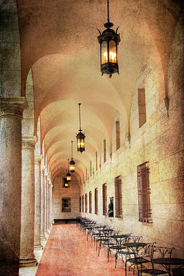 Photograph - Boston Public Library Courtyard by Joann Vitali