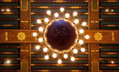 Boston Public Library Ornate Ceiling Original