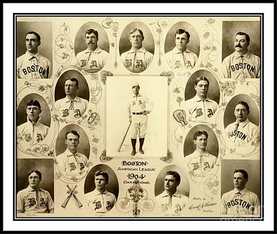 Photograph - Boston Red Sox A K A Boston Americans 1904 by Peter Gumaer Ogden Collection