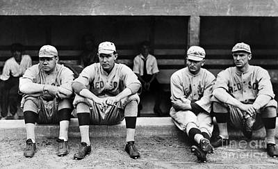 Dugouts Photograph - Boston Red Sox, C1916 by Granger