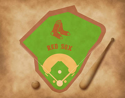 Babe Ruth Digital Art - Boston Red Sox Field by Carl Scallop