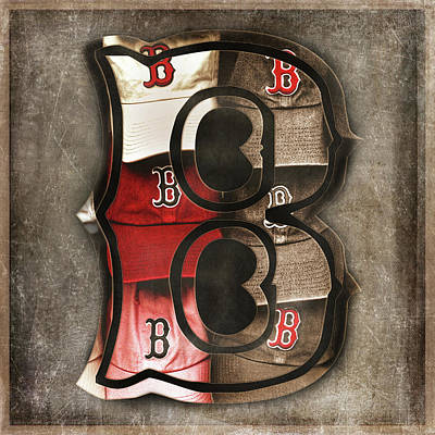 Bosox Photograph - Boston Red Sox  - Letter B by Joann Vitali
