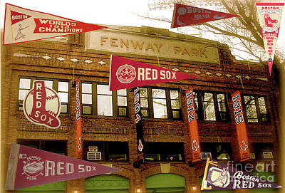Photograph - Boston Red Sox by Steven Parker