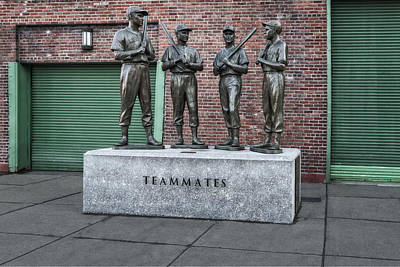 Fenway Park Photograph - Boston Red Sox Teammates by Susan Candelario